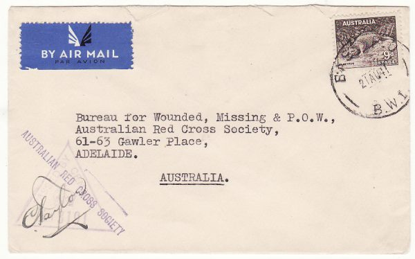 AUSTRALIA…WW2 FORCES in PALESTINE ..RED CROSS…