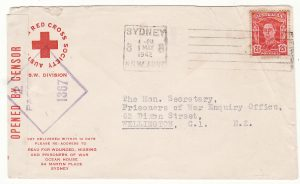 AUSTRALIA - NEW ZEALAND…WW2 RED CROSS N.S.W. DIVISION…