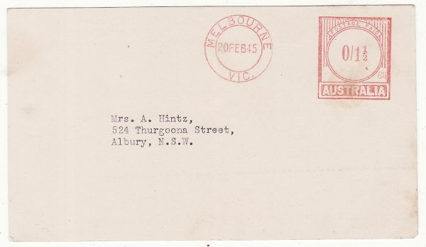 AUSTRALIA...WW2 RED CROSS  PARCEL RECEIVED ACKNOWLEDGEMENT CARD  .…