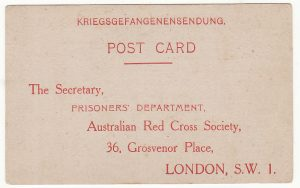 AUSTRALIA …WW2 RED CROSS  PARCEL ACKNOWLEDGMENT CARD  .…