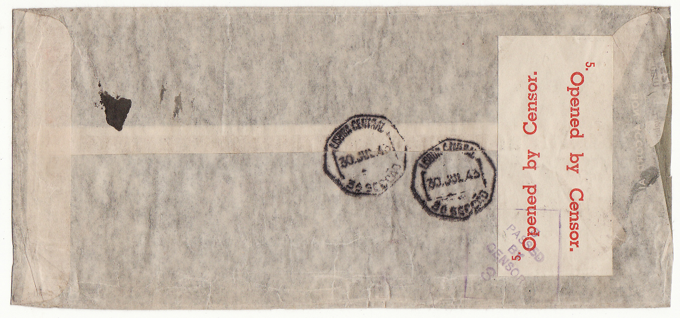 [20220]  AUSTRALIA - SWITZERLAND…WW2 A.R.C.S. MESSAGE SERVICE to RED CROSS, GENEVA at 7/5d RATE from PERTH .…  1944 (Jun 5)