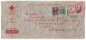 AUSTRALIA - SWITZERLAND…WW2 A.R.C.S. MESSAGE SERVICE to RED CROSS