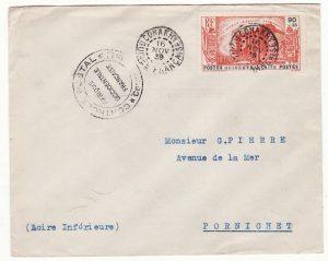 FRENCH GUINEA - FRANCE……WW2 CENSORED …