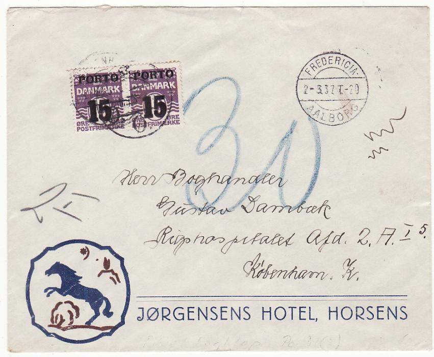 [20306]  DENMARK..POSTAGE DUE..  1937 (Mar 2)