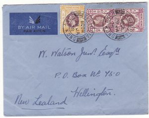 HONG KONG - NEW ZEALAND …AIRMAIL..