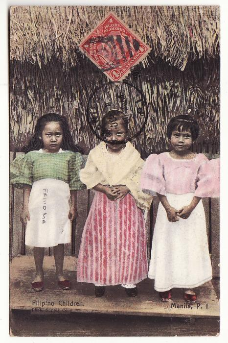 [20351]  PHILIPPINE Is - FRANCE …MARITME MAIL  1910 (Jun 30)