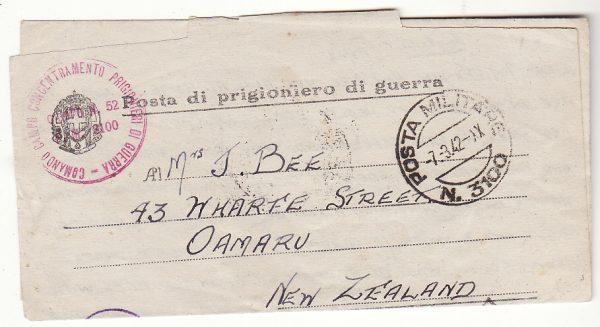 ITALY - NEW ZEALAND.. WW2 N.Z POW…