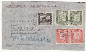 BOLIVIA - GERMANY … WW2 AIRMAIL via LATI…