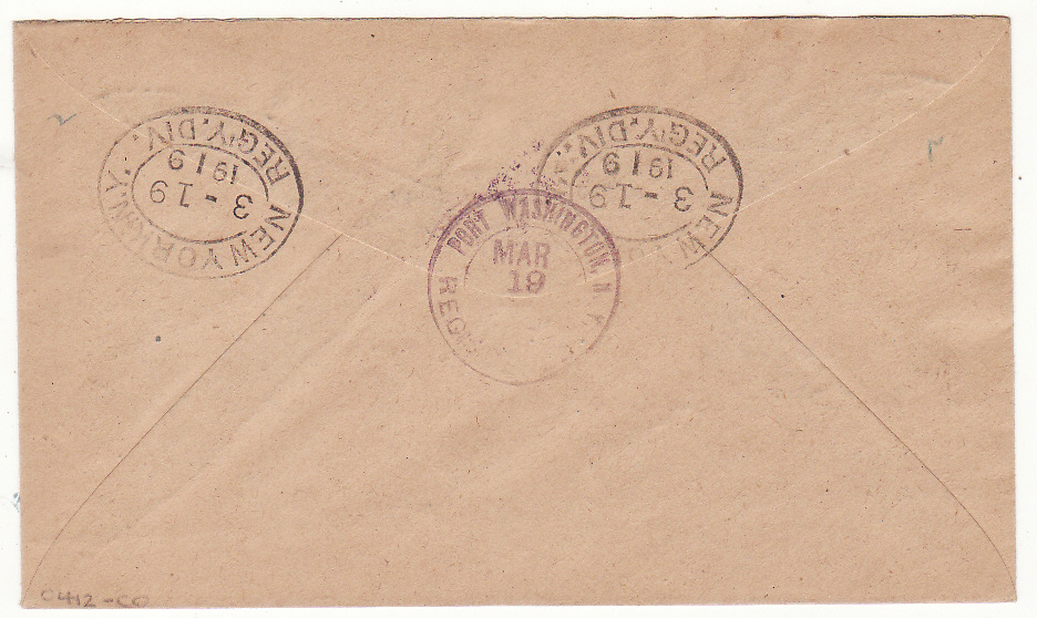 [20411]  MONTSERRAT - USA…1919 REGISTERED WAR TAX..  1919 (Mar 6)
