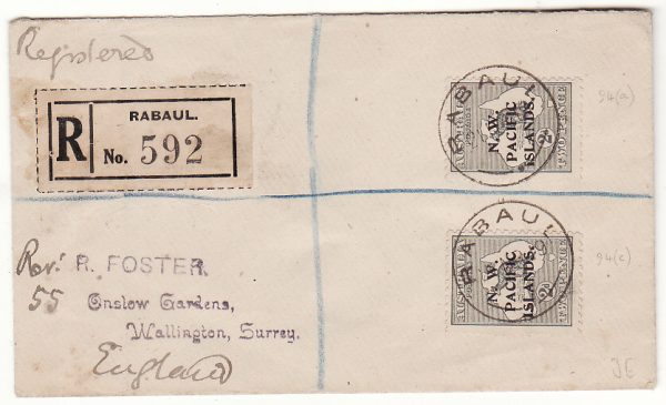 PAPUA & NEW GUINEA - UK…1919 NORTH WEST PACIFIC ISLANDS REGISTERED..