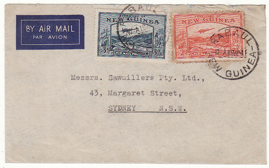 [20413]  PAPUA & NEW GUINEA - AUSTRALIA…WW2 AIRMAIL..  