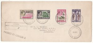 BRITISH SOLOMON ISLANDS - AUSTRALIA … WW2 REGISTERED & CENSORED @ HIGH RATE ..