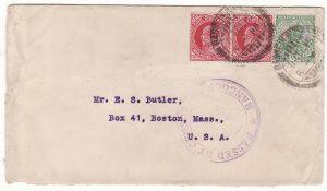 BURMA - USA …WW1 from BASSEIN CENSORED at RANGOON…