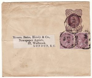 BURMA - GB …INDIAN POSTAL STATIONARY WRAPPER...