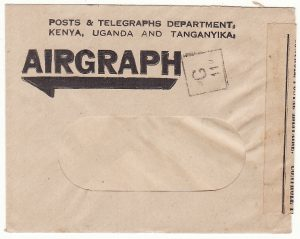 MADAGASCAR…WW2 FRENCH CENSOR on AIRGRAPH ENVELOPE..