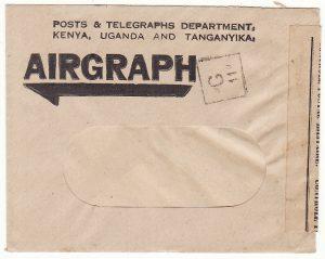 MADAGASCAR…WW2 FRENCH CENSOR on AIRGRAPH ENVELOPE..