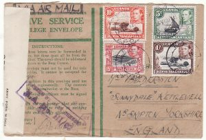 KENYA - GB..WW2 CENSORED HONOUR ENVELOPE…