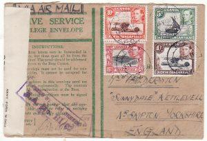 KENYA - GB..WW2 CENSORED HONOUR ENVELOPE…
