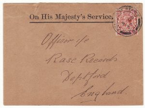 CHINA - GB…BRITISH FORCES SHANGHAI DEFENCE FORCE O.H.M.S ..