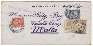 TURKEY - MALTA …1920 BRITISH LEVANT REGISTERED to TURKISH POW …