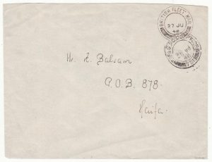 PALESTINE …BRITISH FLEET MAIL 12..