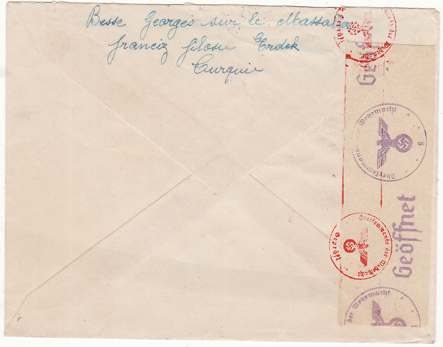 [20572]  TURKEY - FRANCE…WW2 INTERNED FRENCH SHIP..  1943 (Mar 4)