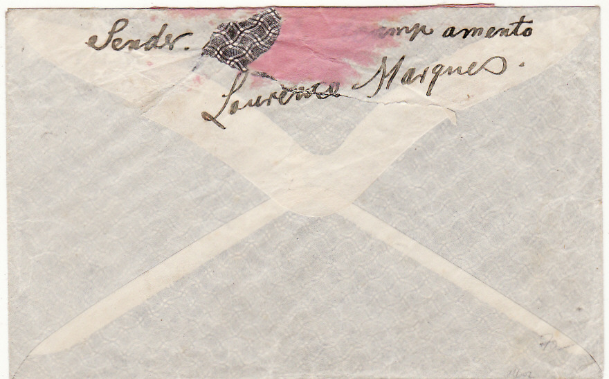 [20565]  PORTUGUESE COLS. - SOUTH AFRICA …WW1 LOURENCO MARQUES POW to PORT NAPIER POW…  1916 (Apr 15)