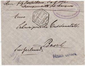 PORTUGUESE COLS  - SWITZERLAND…..WW1 LOURENCO MARQUES POW…