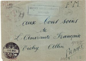 TURKEY - FRANCE…WW2 INTERNED FRENCH SHIP..